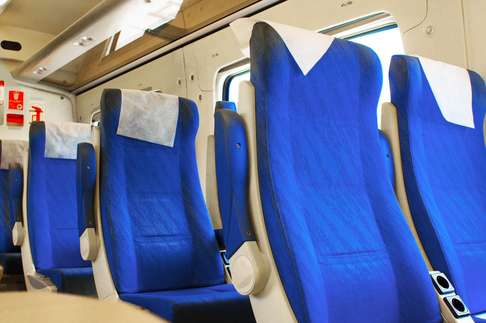 An interior view of a modern high speed train