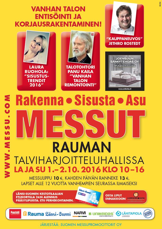 Nasiol nanopinnoitteet RKA-MESSUILLA Raumalla la-su 1-2.10.2016